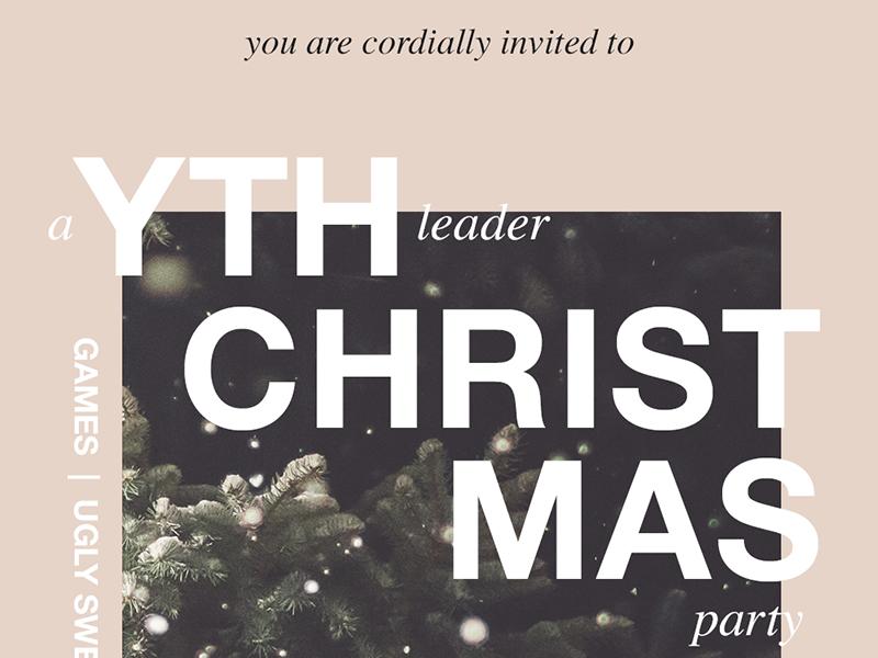 YTH Christmas card christmas youthmin church