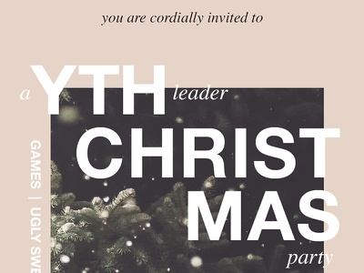 YTH Christmas card christmas youthmin church