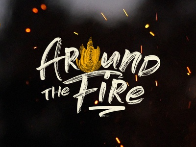 Around the Fire sermon art branding series crtvmin crtvchurch church