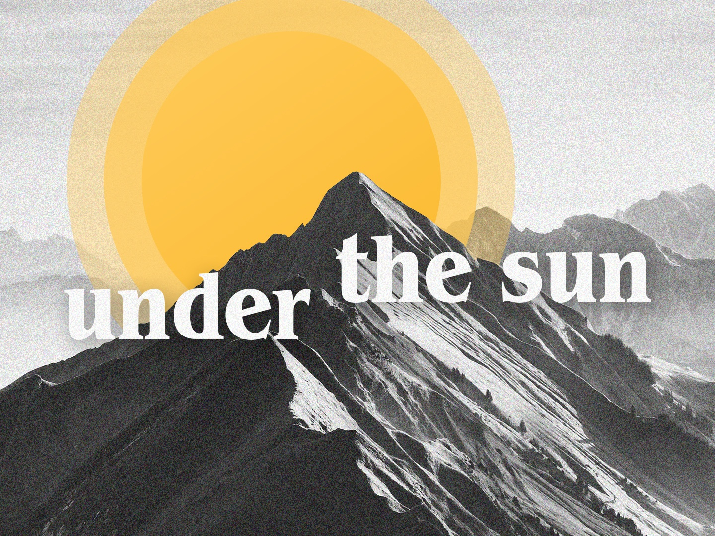 Under The Sun (Concept) sun mountain series branding crtvmin crtvchurch church