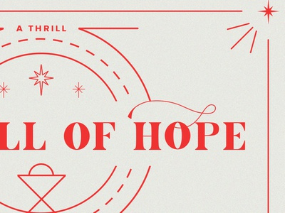 A Thrill of Hope design christmas series branding crtvchurch crtvmin church