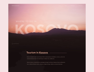 Visit Kosovo - Tourism Website Design