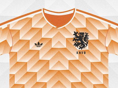 Holland 88' netherlands shirt football classic orange illustration holland