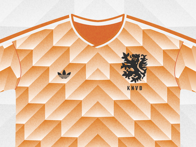 Holland 88' netherlands shirt football classic orange illustration holland