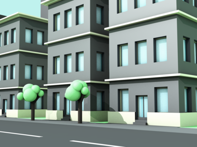 Buildings render buildings c4d 3d