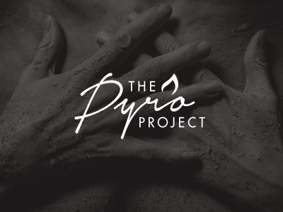 The Pyro Project script charity logo branding type typography pyro project ignite flame photography