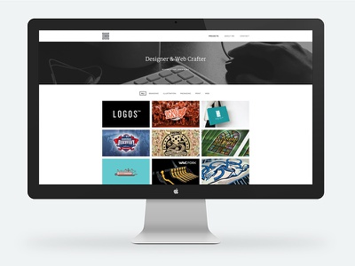 New Site. New Work.  wordpress responsive design portfolio website minimal clean web new personal branding showcase