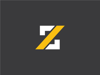 Z brand construction illustration logotype identity z letter symbol mark logo