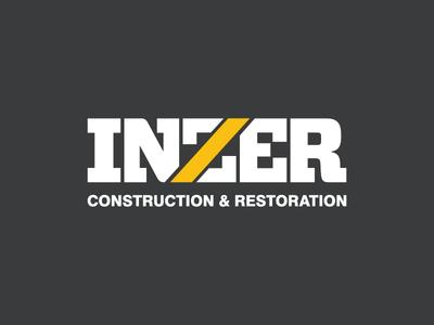 Inzer Construction & Restoration restoration logo mark symbol letter z identity logotype construction brand