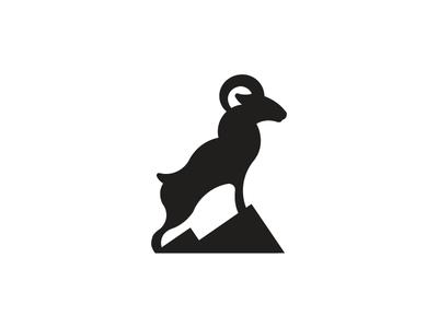 Ram Mark illustration identity geometric brand logo mark animal ram symbol mountains silhouette
