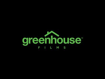 GreenHouse Films movie cinema green house production film brand identity logo