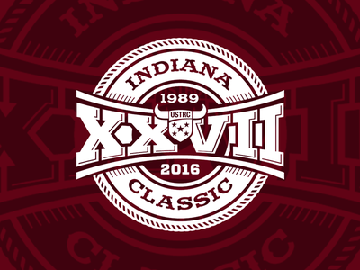 Indiana Classic logo concept roping event vector historic vintage rodeo western sports classic indiana