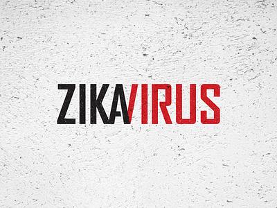 Zika Virus awareness type wordmark ligature mosquito texture disease virus zika logotype logo