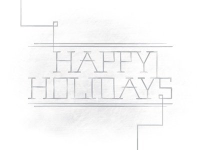Holiday Sketch lettering typography type line happy holiday christmas vector illustrator sketch