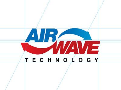 AirWave Technology helvetica mark logo blue red arrow movement technology cold hot wave air