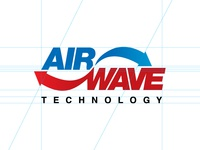 AirWave Technology helvetica mark logo blue red arrow movement technology cold hot wave air