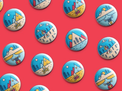 Illustration and Mockup mockup badges adventure travel india pirategraphic dribbble illustration designinspiration design graphicdesign graphics