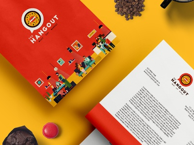 Identity and Illustration mockup graphics graphicdesign design designinspiration illustration dribbble pirategraphic india cafe identity logo