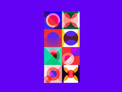 Round association design graphic
