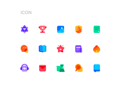 ICONS search experiment news headset hot fire book discuss cat stock reward constellation vector logo ui illustration icon design colour