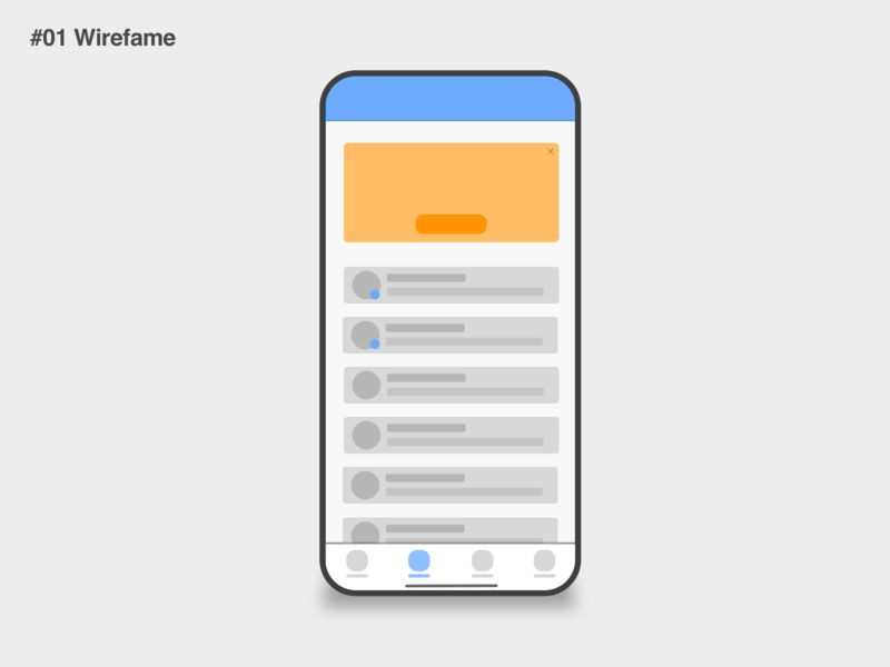 Messaging app - #01 Wireframe