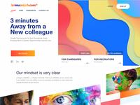Colourful Job Portal - Landing Page