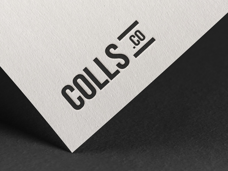 Branding: colls.co fashion brand fashion print brand typography graphic design illustration logo branding design photoshop