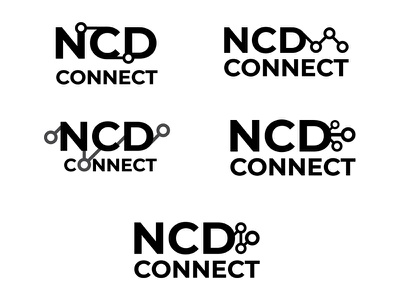 NCD Connect logo progression icon illustration logo logo design