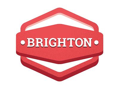 Brighton Badge salt and pepper illustration uk hove badge brighton