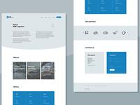 One-page website |  Logistics company