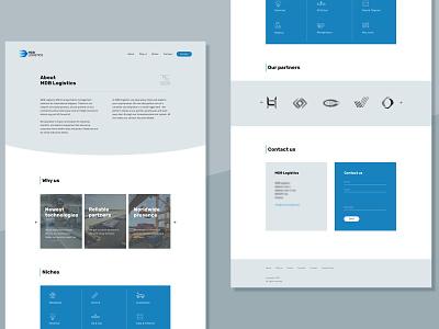 One-page website |  Logistics company simple blue business website ui web design website
