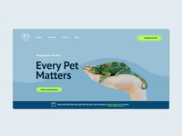 Website hero area // Veterinary clinic // Redesign