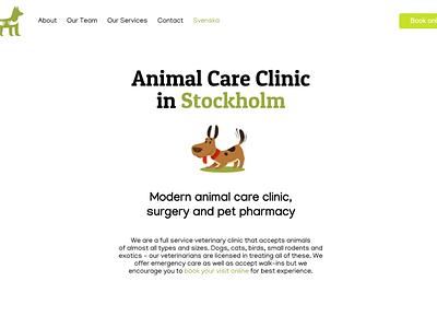 Website for a Vet Clinic ux veterinary vet front page website web design