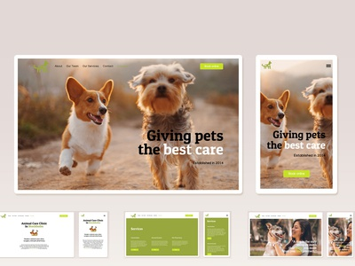 Animal Clinic Front Page Design