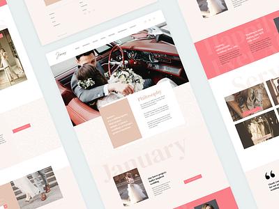 Wedding website design layout wedding design front page web design ux website