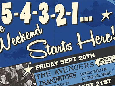 5-4-3-2-1... poster vintage mod scooter jaguars soul