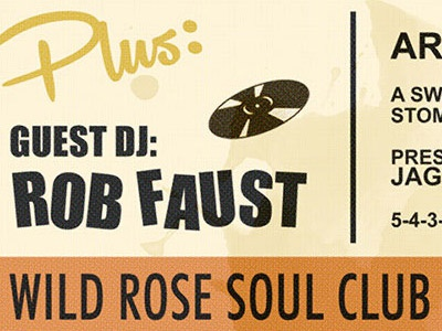 Wild Rose Soul Club Fall Gig vintage distressed poster soul