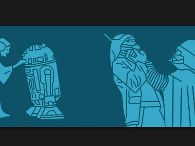 Picto Synopsis2 photoshop wireframe picto-synopsis leia star wars darth vader r2-d2