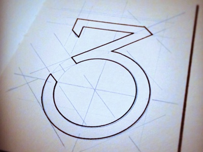 Number 3 pen drawing numbers 3 drawing a day