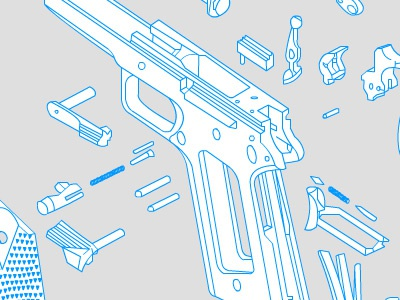 Colt 45 schematic animation wireframe flash colt 45 exploded view