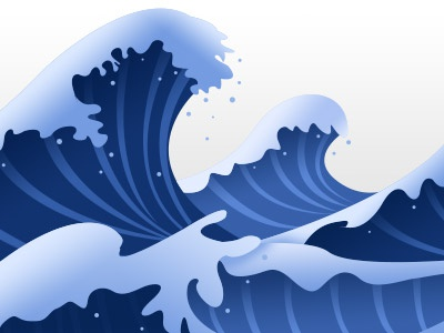 Wave Footer wave footer photoshop water tile