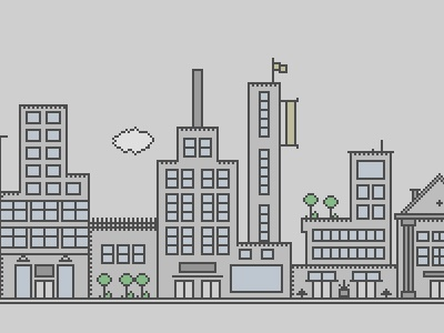 Buildings... illustration city building window doors simple pixel