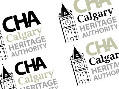 CHA Logo Work branding logo heritage authority calgary cha