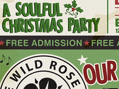 Soulful Christmas Party soul vintage poster dj distressed northern soul