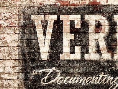 Ver photoshop vernacular venacular.ly sign painting brick distressed