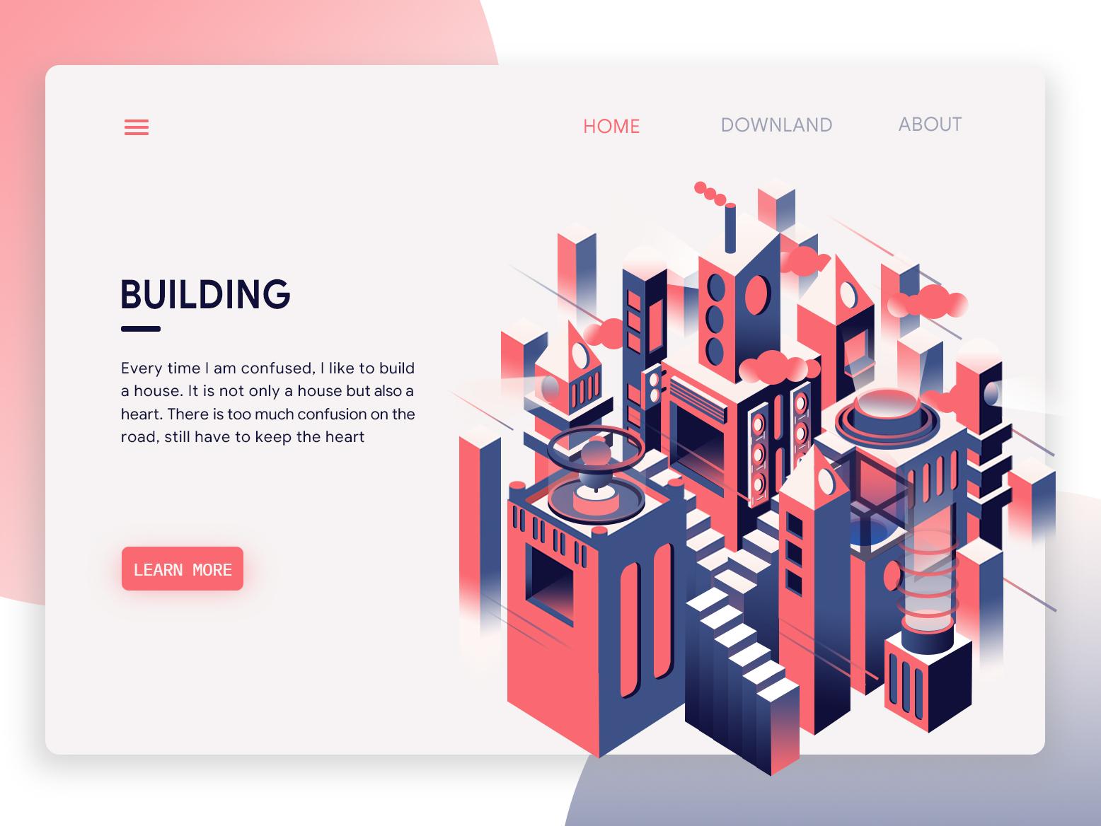 BUILDING web ui illustration ui ux design illustrations design app illustration