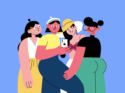 Girls girl illustration ui ux design design illustrations illustration