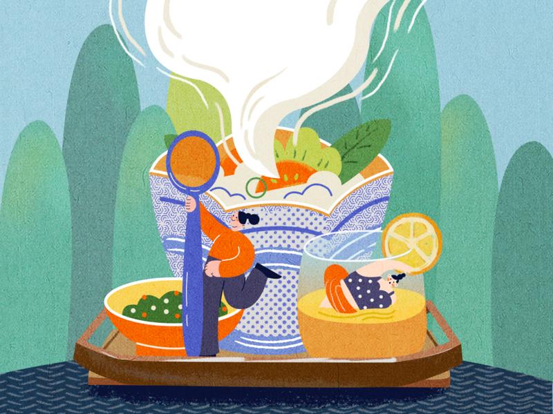 rice girl app illustration ui ux design illustrations design illustration
