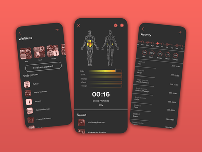 Formuscle training view muscle sport ui phone