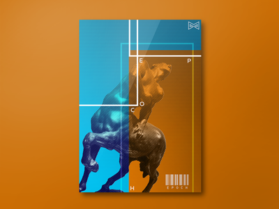 Epoch poster code man horse art typography typo design graphic trend gradient posters poster